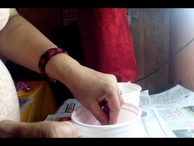 Como teñir goma eva o foamy con anilinas