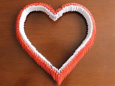 Corazón De Origami 3D. Origami Heart ¡TUTORIAL!