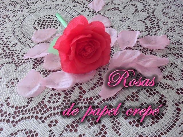[DIA DE LAS MADRES] Rosas de papel crepé