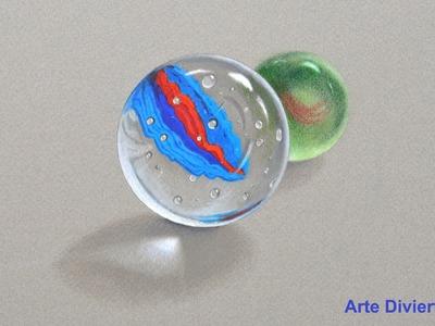 Dibujando vidrio o cristal: cómo dibujar canicas - Arte Divierte.