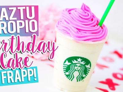 ❁ DIY Bebida Starbucks PASTEL DE CUMPLEAÑOS ❁