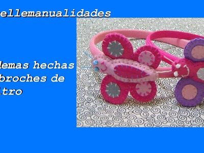 DIY:  broches de fieltro montado en diademas