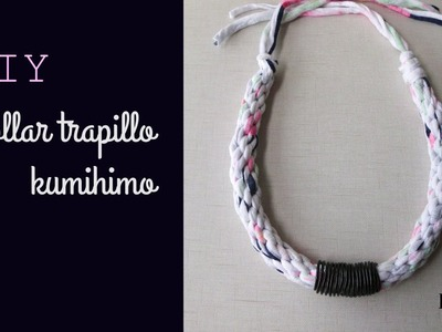 DIY Collar Trapillo Kumihimo