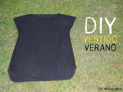 DIY Cómo hacer vestido veraniego para la playa muy fácil (patrón gratis)