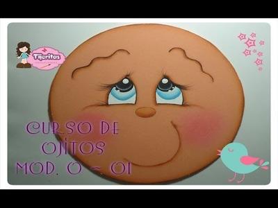 DIY Como pintar ojos en foamy - foami - Goma Eva - Fomix CURSO DE OJITOS