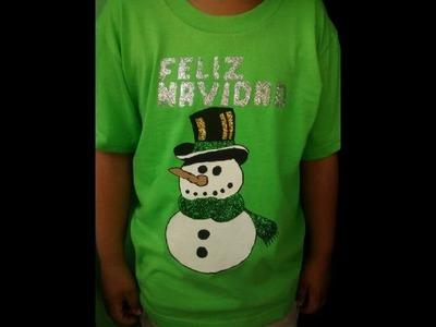 DIY: como pintar una camisa navidad
