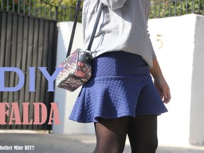 DIY Costura: Cómo hacer falda con volante (patrón gratis)