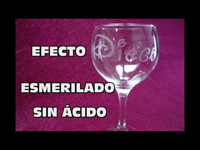 DIY GRABAR COPA SIN ÁCIDO, DIY GRINDING EFFECT WITHOUT ACID