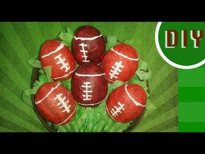 DIY: Mini football de cascaron de huevo