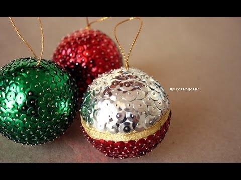 Esferas para Navidad: Lentejuela [Manualidad FACIL]