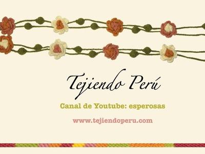 Guirnalda navideña inspirada en el tejido típico de Ayacucho (Perú)
