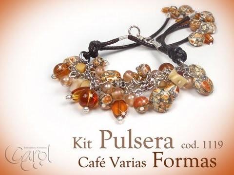KIT 1119 Kit pulsera cafe varias formas x und