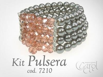 KIT 7210 Kit pulsera perla gris x und