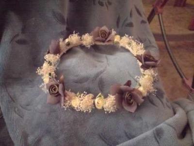 Manualidades ¿como hacer diadema o corona flores ?