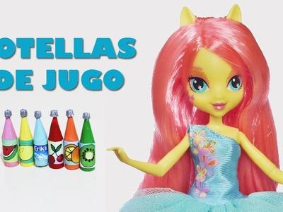 Manualidades para muñecas: Cómo hacer botellas de jugo para tus muñecas