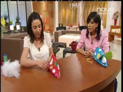 Mayka Zafra realiza un ratón con telas divertidas y alegres, Utilísima, Bien Simple