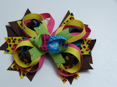 Moños decorados con tortuga de cinta, a( a petición), ideas fáciles de moños.
