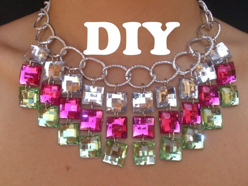 Necklace-Collar de moda con cadenas y brillantes