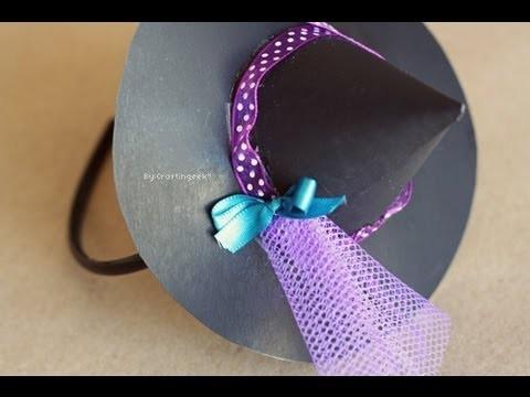 Sombrerito de Bruja - Accesorio Halloween [disfraz + FACIL]