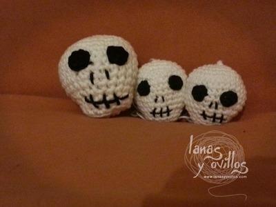 Tutorial Calavera Amigurumi Halloween Paso a Paso en Español