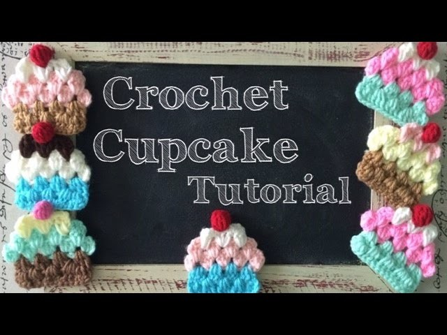 Tutorial: Cupcake a Crochet (estilo Granny) - Crochet Granny Cupcake (English Subtitles)