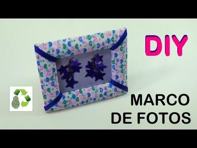 132. DIY MARCO PARA FOTOS (RECICLAJE DE CARTON Y TELA)