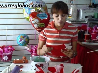 Arreglo con globos para aniversario www.arreglobos.com