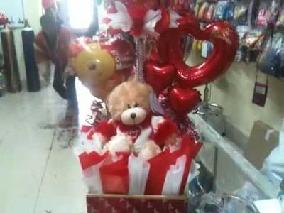 Arreglo hecho con globos para san valentin paso a paso by sd