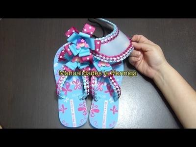 Como decorar sandalias con tejido en cintas paso a paso  no. 333 Manualidadeslahormiga