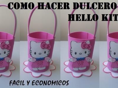 COMO HACER DULCEROS HELLO KITTY DE FOAMY
