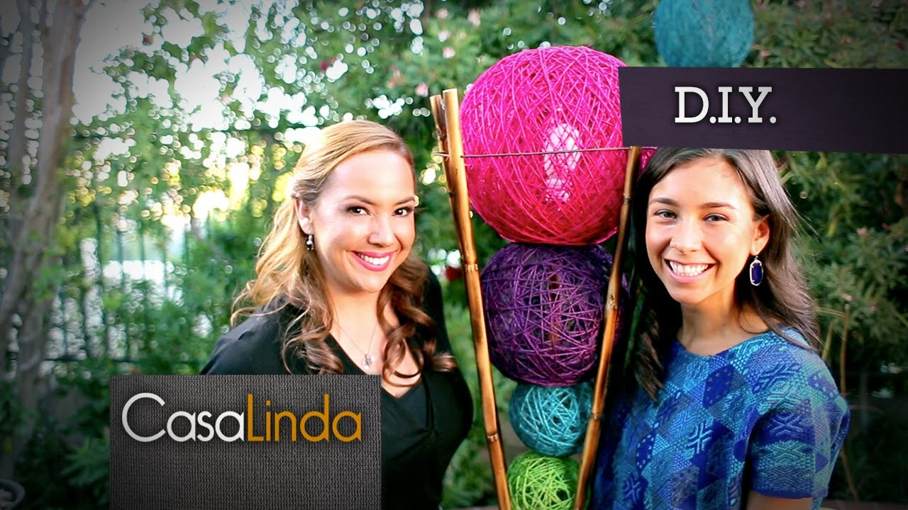 Cómo hacer tu propia Lámpara (DIY) - Casa Linda y Rawvana (Episodio 5)