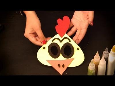 Cómo hacer un antifaz de pollito : Antifaces de animales para niños