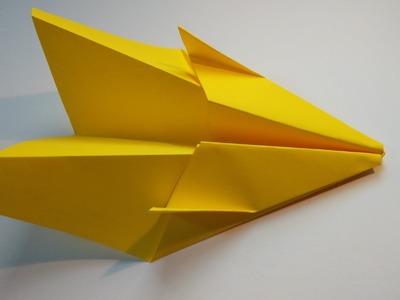Como hacer un avion de papel que vuela mucho tiempo