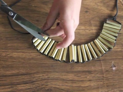Cómo hacer un collar dorado fashion DIY [Fácil]