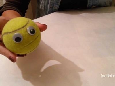 Cómo hacer un perchero con una pelota de tenis | facilisimo.com