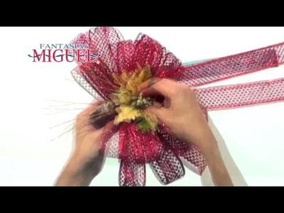 Como hacer una corona navideña con chenilles