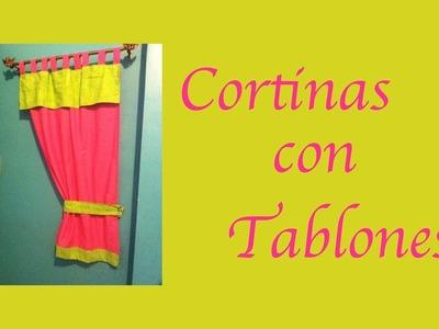 Cómo hacer una cortina con presillas para cocina o cuarto de niños - La receta de la abuelita