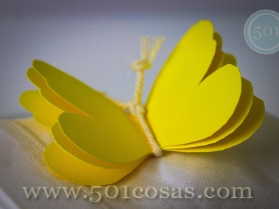 Cómo hacer una mariposa de cartulina