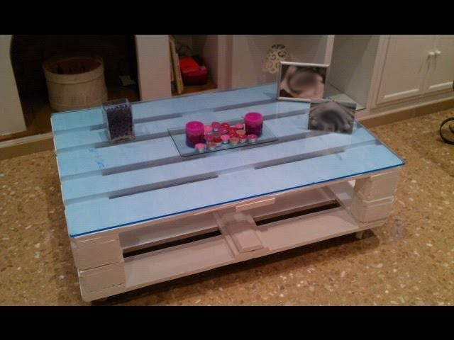 Como hacer una mesa con palets (how to do a table with pallet)