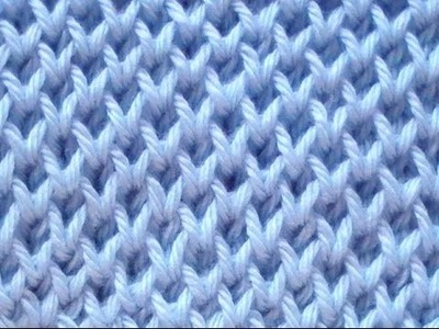 Cómo Tejer Punto Panal-Honeycomb Brioche Stitch 2 Agujas (265)