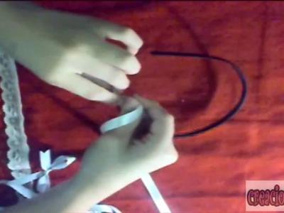 Crea y diseña tus propios cintillos (Azul y blanco)! Super Fácil :)