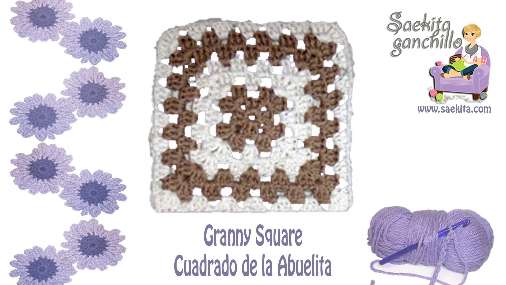 Cuadrado de la Abuelita (Granny Square) con cambio de color * Saekita Ganchillo