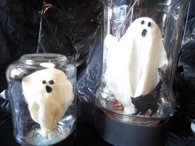 Decoraciones para Halloween-Fantasma enfrascado