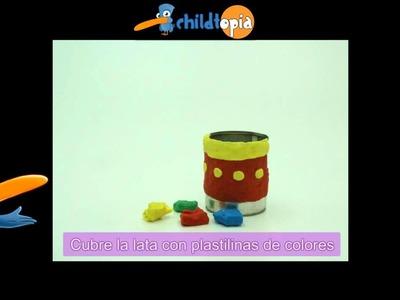 Decorar con plastilina. Manualidades infantiles, manualidades con plastilina y material reciclado