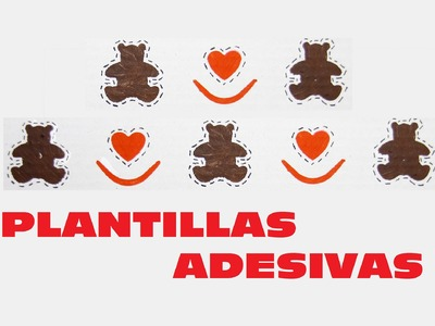 DIY HACER PLANTILLAS ADHESIVAS DECORATIVAS, DIY DECORATIVE TEMPLATES SELF-ADHESIVE