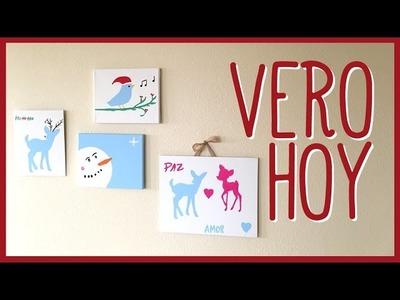 DIY Pintemos nuestros propios cuadros para navidad