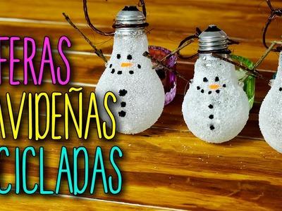Esferas Navideñas Recicladas - Manualidades para Navidad - Fácil DIY