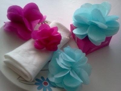 Flores de papel de china :D!