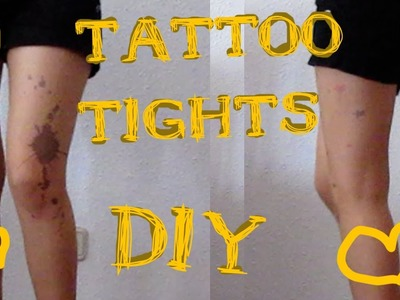 Gyaru Channel - Sue - DIY: Tattoo tights!
