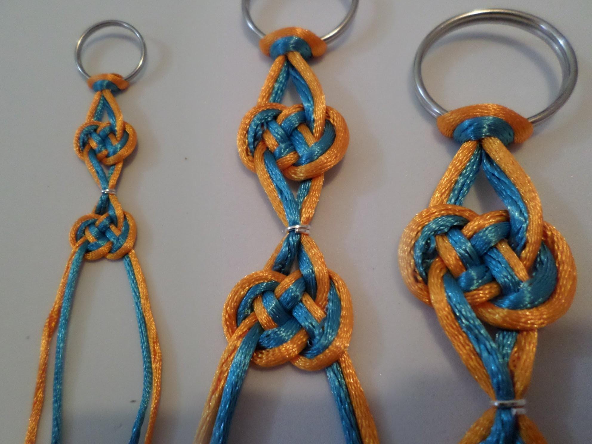 How to tie a Pretzel knot  como hacer un nudo Pretzel